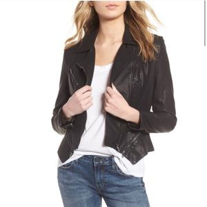 Blank NYC worn once faux leather moto jacket, XS